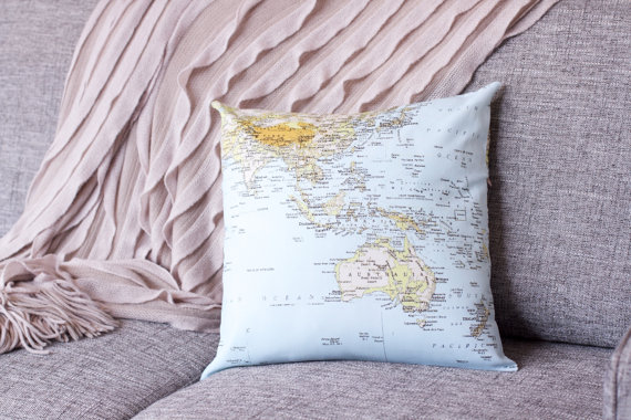 Cushion cover - World Map